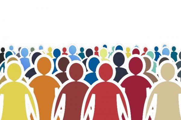 Personen aller Art bilden die Bevölkerung