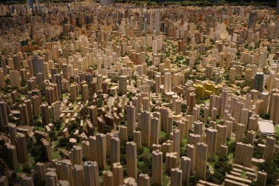 Stadtmodell aus Holz