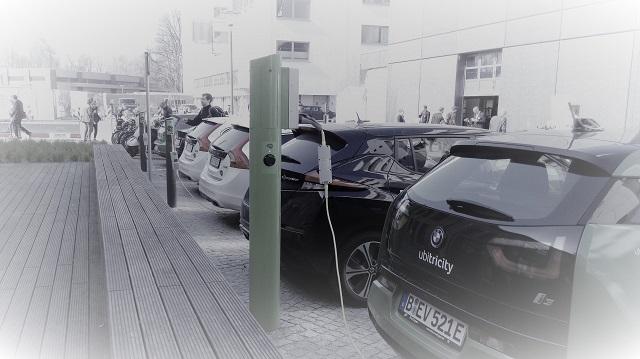 Elektroladesäule auf dem EUREF-Campus